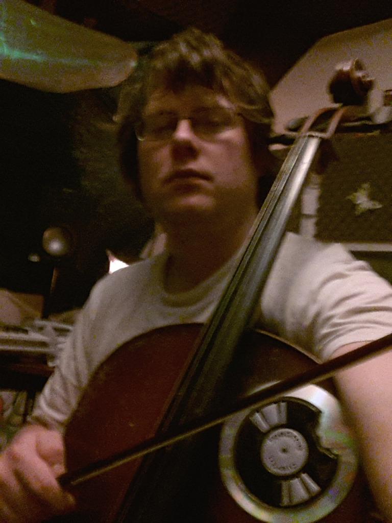 The cello features heavily