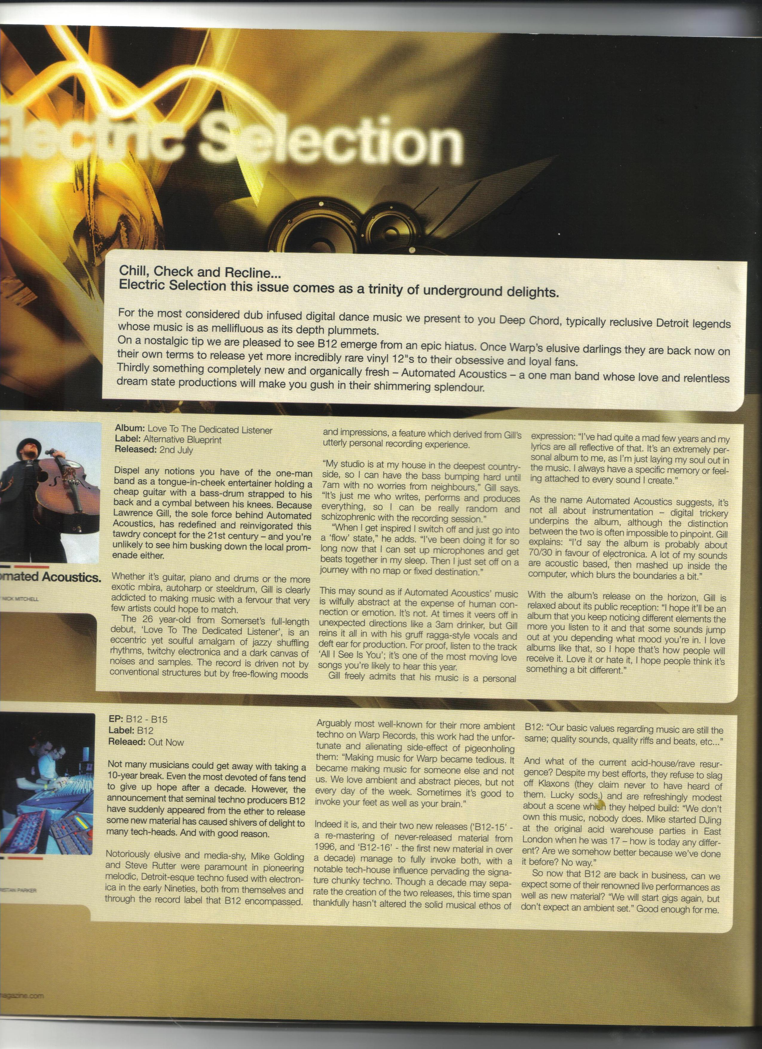 Reviews for love to the dedicated listener album automated acoustics clash magazine review of the album love to the dedicated listener by automated acoustics malvernweather Gallery