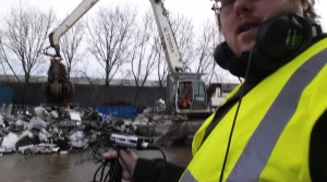 found sound recording in a scrapyard by Automated Acoustics
